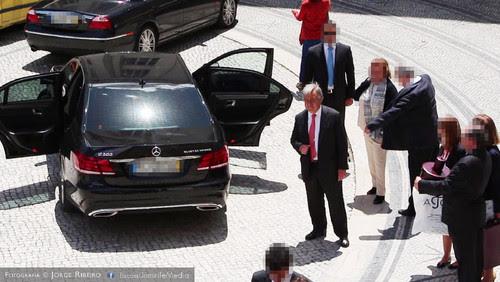António Guterres na Universidade de Coimbra para receber o grau de Doutor Honoris Causa pela Universidade de Coimbra