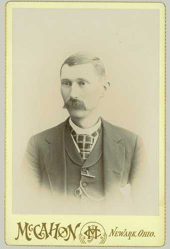 Cabinet Card - Man with mustache