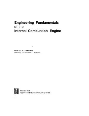Fundamentals of Internal Combustion Engine | Tech Books Yard