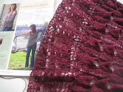 Cobweb lace shawl