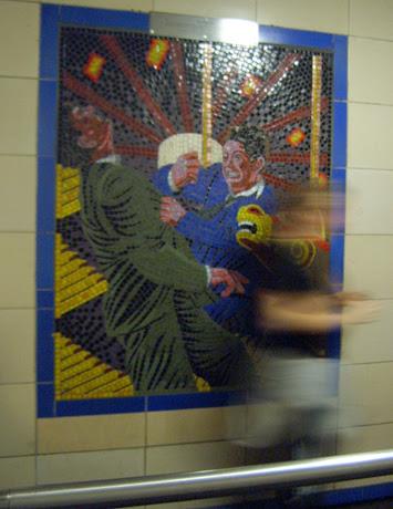 Hitchcock Leytonstone London Underground Mosaics - Merry Go Round Scene