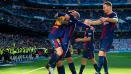 Indosport - Skuat Barcelona merayakan kemenangan mereka atas Real Madrid.