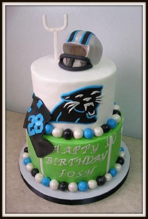 25  best ideas about Carolina Panthers Cake on Pinterest