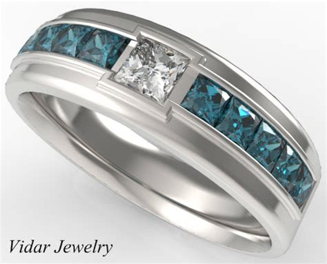 princess cut diamond wedding ring   men vidar