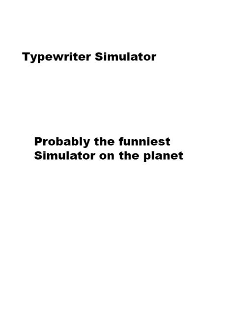 Typewriter Simulator Windows game - Mod DB