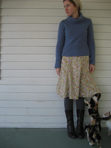 spring skirt::winter skirt