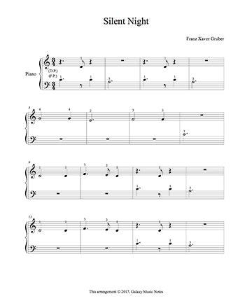 Silent Night | Beginner's piano sheet music | Christmas song