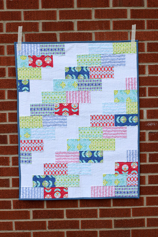 Baby Color Me Retro Braid Quilt