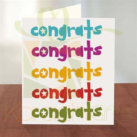 Karachi Gifts : Personalized Congratulations Cards to