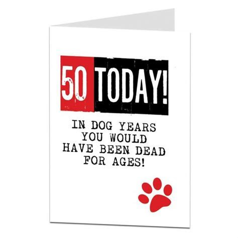 50th Birthday Card Funny   Designed & Printed By Lima Lima