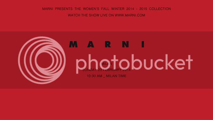 Marni Women fall winter 2014/15 show livestream