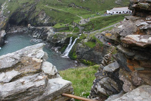 Looking down from Tintagel