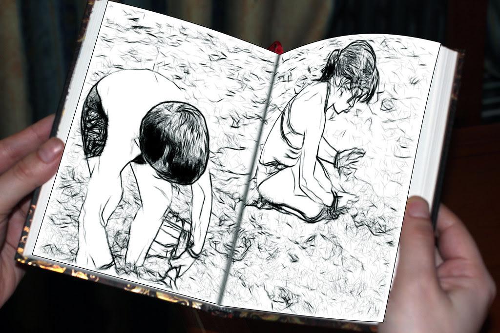 los niños juegan con la arena