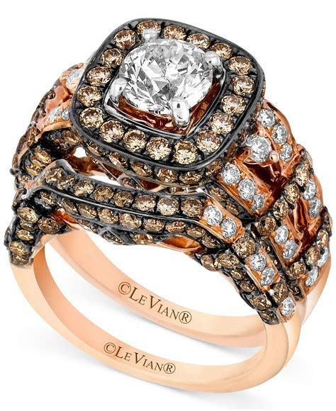 Le Vian 14k Rose Gold Ring Set, White Diamond (1 3/8 ct. t