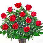 Love Always! One Dozen Roses Vased