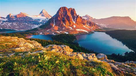mountain lake canada british columbia  hd