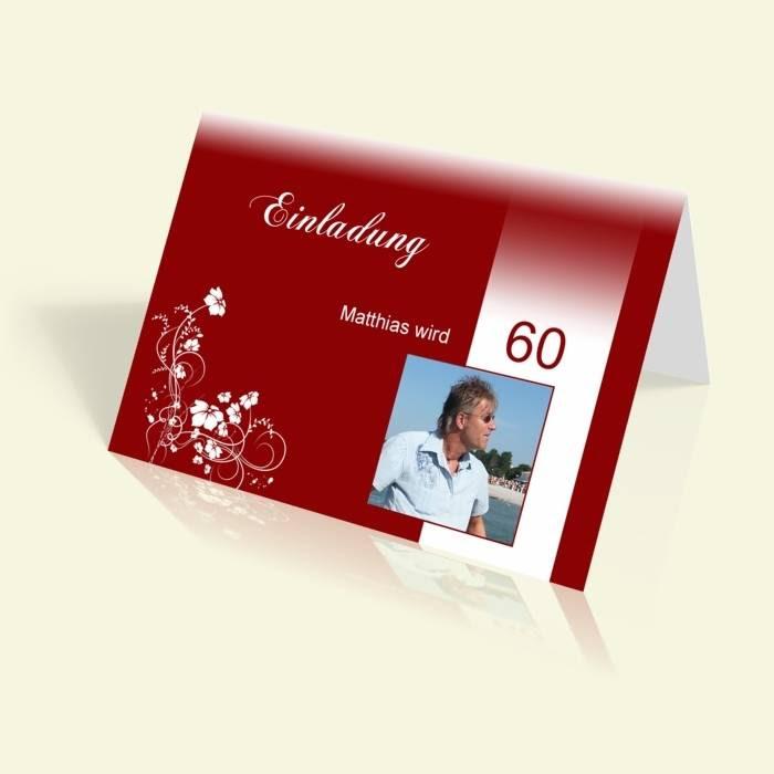 einladungskarten zum 60 geburtstag selber machen - etsy bild