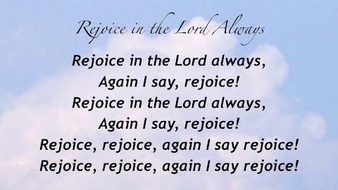 Rejoice In The Lord Always Lyrics