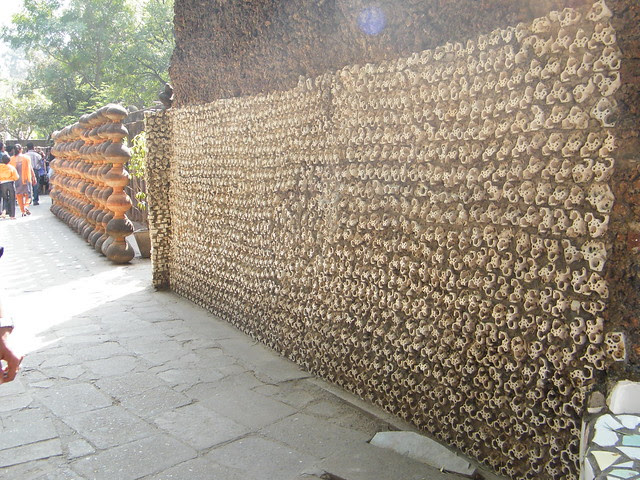 insulators used to make walls in Rock Garden, Chandigarh