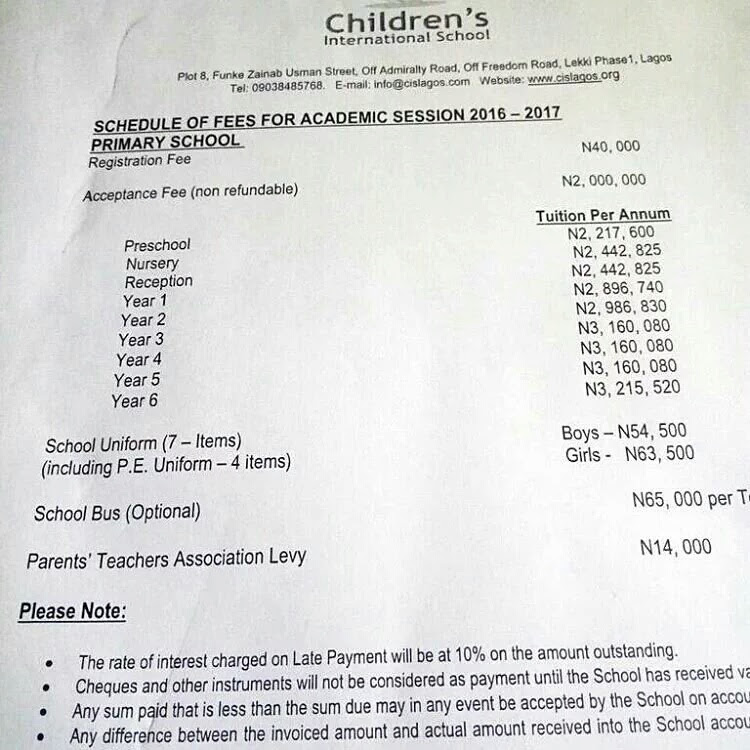 Lagos Primary School Where Pupils Pay N3m As Tuition Fees Per Session (Pictured)