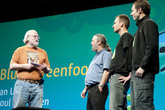 """Ian Utting, Poul Henriksen, Davin McCall and James Gosling, General Session """"The Toy Show"""" on June 5, JavaOne 2009 San Francisco"""