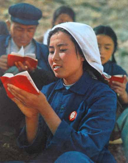ragazza cinese durante la rivoluzione culturale