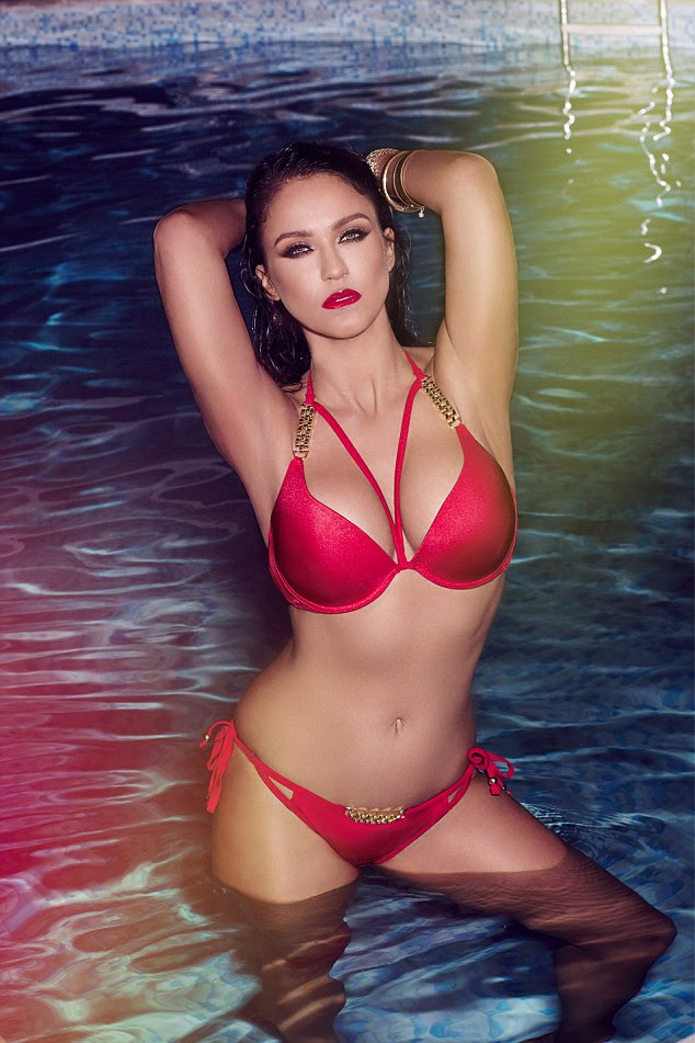 Sizzling: The perfect revenge: The Geordie star has revealed that her sexy new campaign shots for the popular brand is the perfect 'f*** you' to all the trolls who mocked her during her time in the I'm A Celebrity jungle
