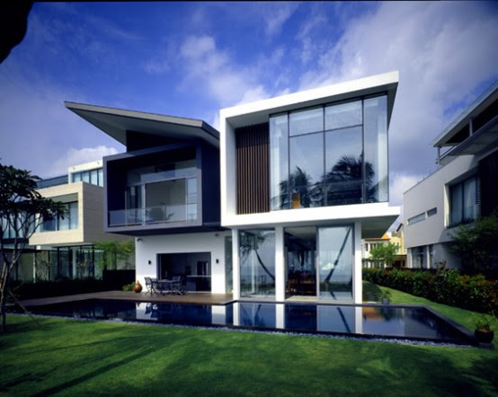 Modern House at Small Area in Sentosa Cove | DigsDigs