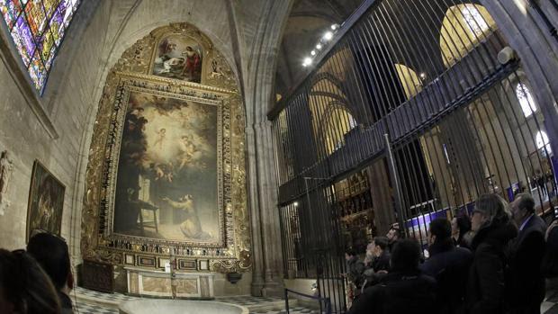 Resultado de imagen de sala capitular catedral de sevilla Y EL AÑO DE MURILLO