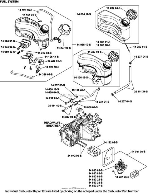 kohler xt  basic  ft lbs gross torque parts