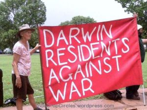 darwin residents againts war