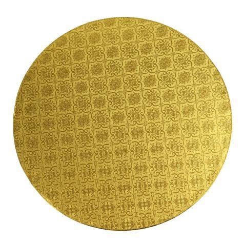O'Creme Round Gold Cake Drum Board, 1/2 Thick Round Cake