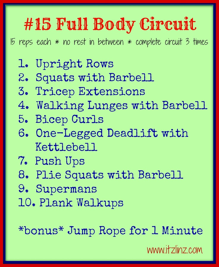 #15 Full Body Circuit by itzlinz