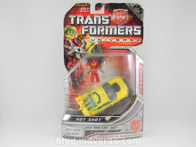 Transformers Hot Shot Deluxe - Universe - caja