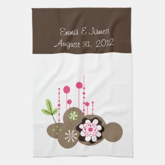 Personalize Floral Tea Towel kitchentowel