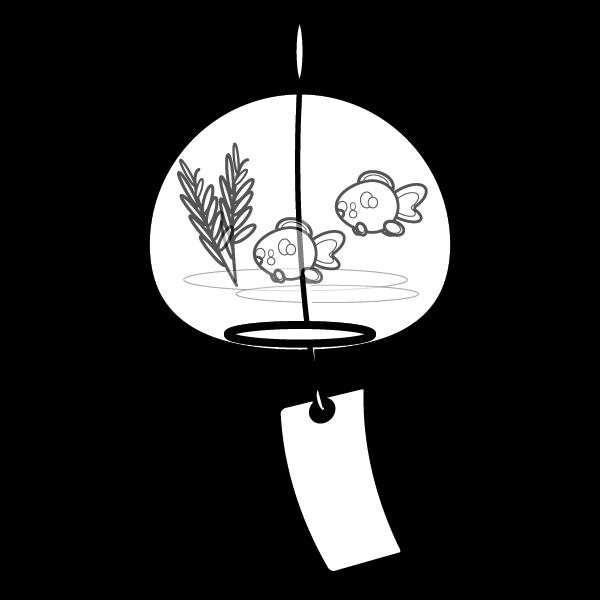 かわいい風鈴の無料イラスト商用フリー オイデ43