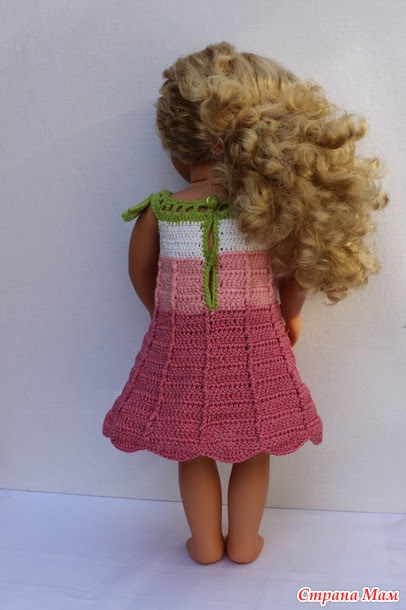 "Dress ""bell"" for dolls 45-50 cm (American, German Gotz, Russian).  Author wwwika."