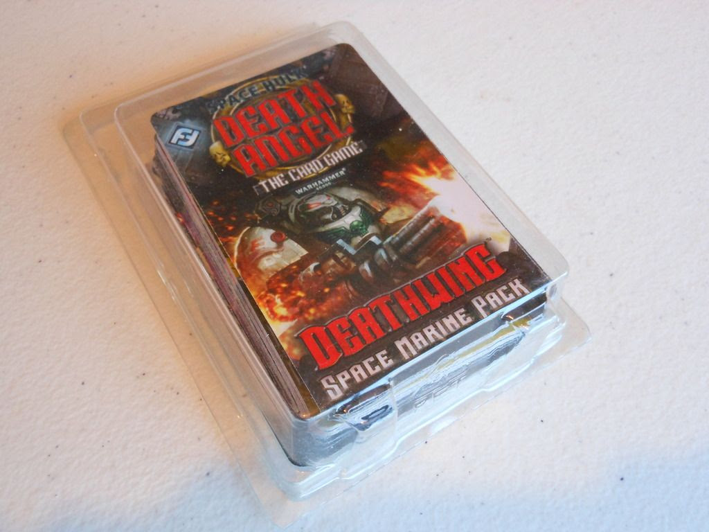 Space Hulk: Death Angel - Deathwing retail packaging, showing cards in plastic blister.