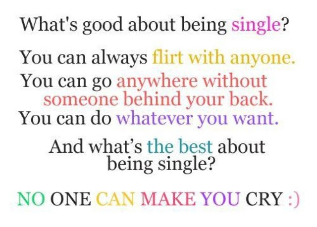 I Love Being Single Quotes For Girls