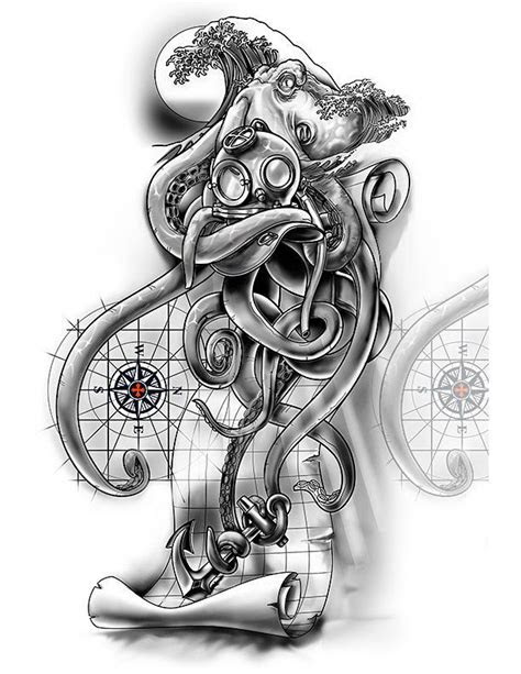 sleeve nautical cover  design tattoos map tattoos