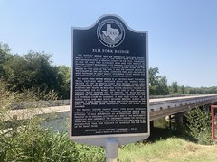 Elm Fork Bridge Sign