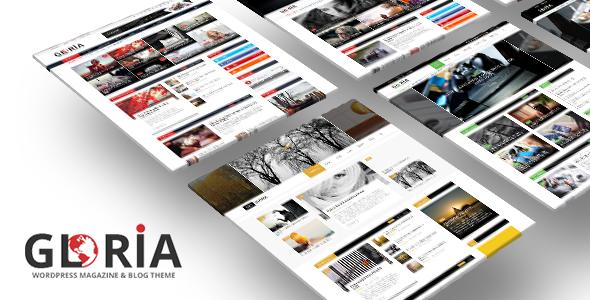 Gloria - Nhiều khái niệm Blog Magazine WordPress Theme