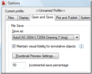 AutoCAD Options