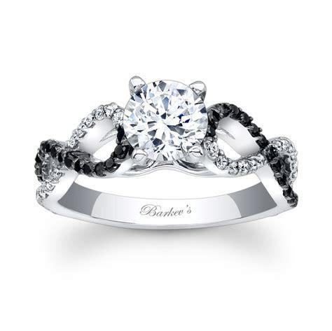 Barkev's Black Diamond Engagement Ring 7714LBK   Barkev's