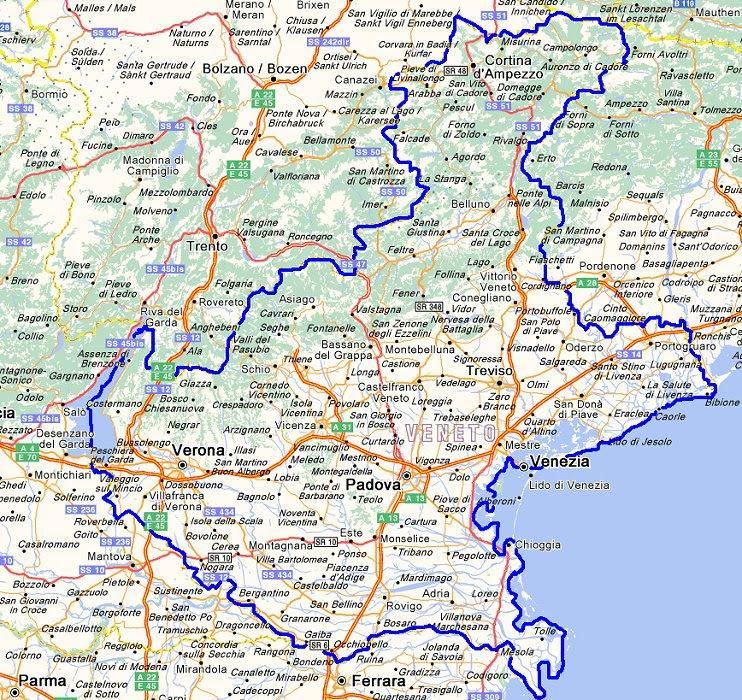 Cartina Del Veneto E Friuli.Veneto Mappa Veneto Town Moves To Friuli English Ansa It Mappa Regione Veneto Italia E Carta Stradale Aggiornata Allison Kayser