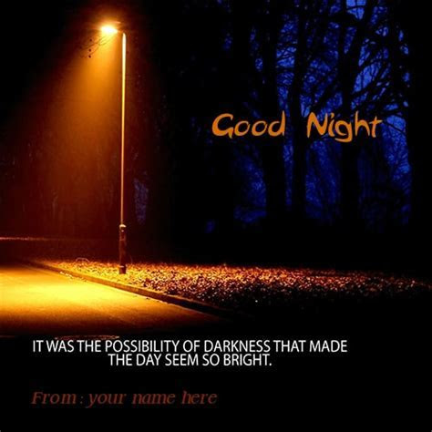 good night wishes quotes on way lighting