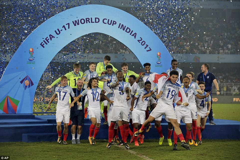England are the champions of the world at Under-17 level following a staggering turnaround to beat Spain 5-2