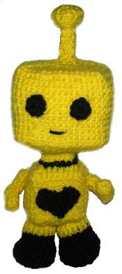 crochet amigurumi robot
