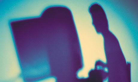 A hacker's silhouette