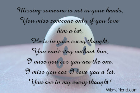 Miss You Now Missing You Poem